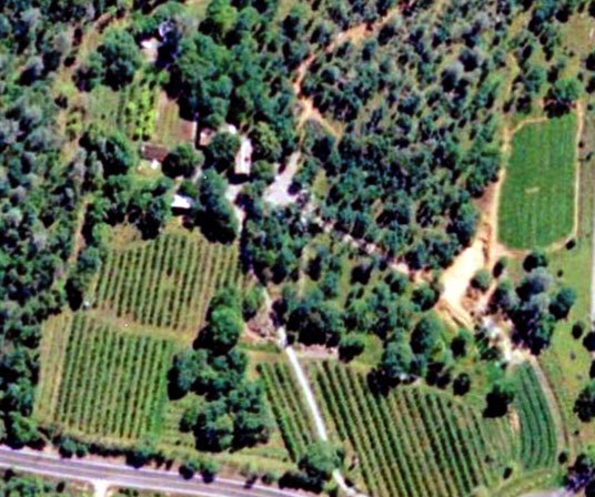 Aerial of Woodleaf Farm